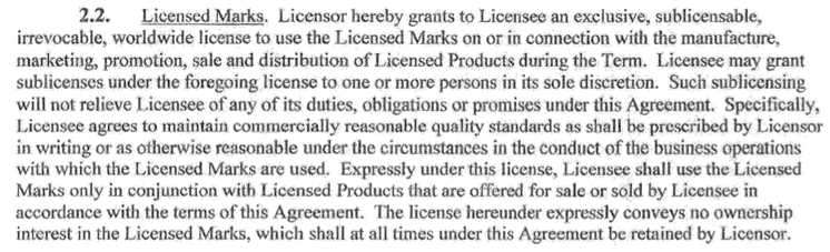 Sleash license agreement clip