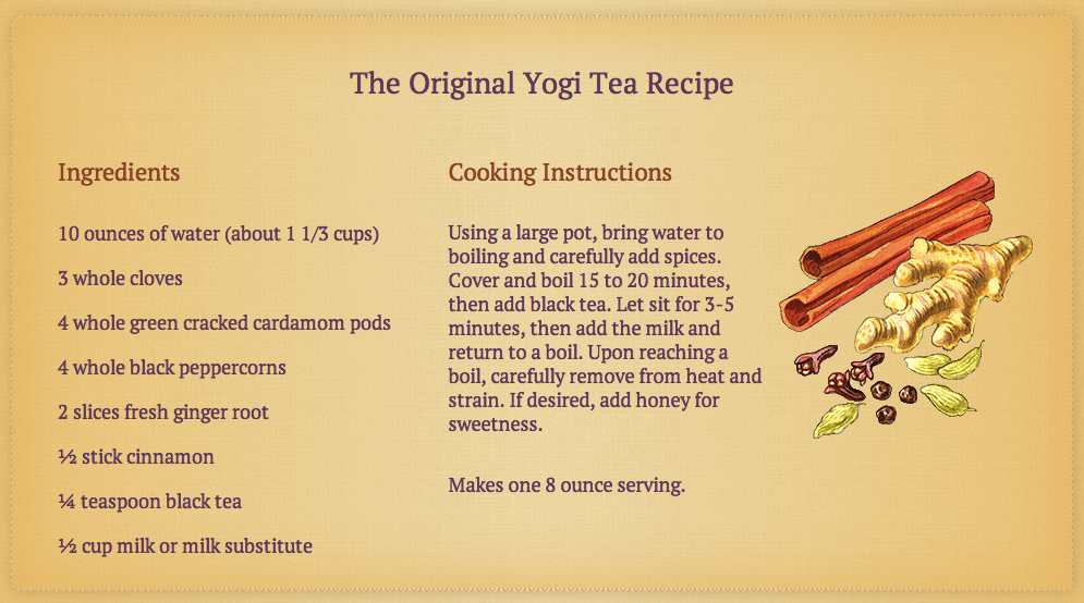Yogi tea recipe clip