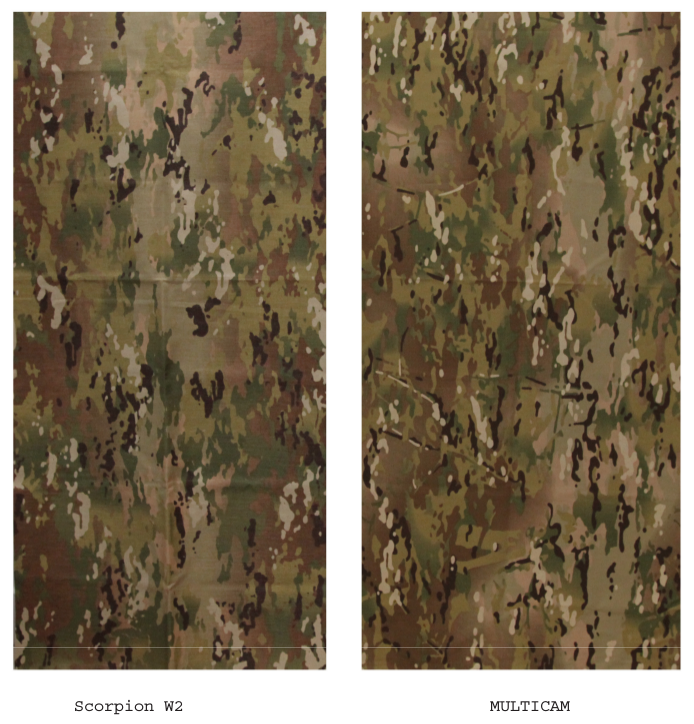 Comparison of camo patterns